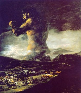 El Coloso. Francisco de Goya.