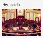 Imagen del Hemiciclo del Congreso que da acceso al apartado de la web que contiene la situación de los escaños